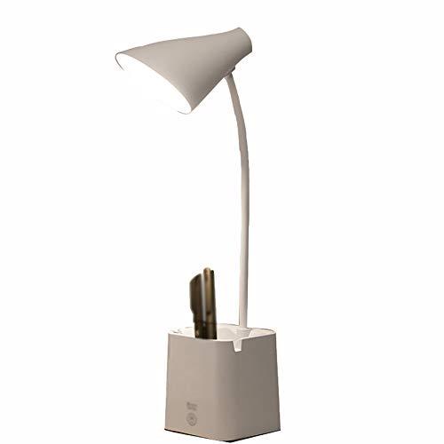 Xbd Lámpara de Mesa,lámpara de Mesa LED,con portalápices y Soporte móvil,lámpara de Mesa de Carga USB,atenuación Continua,lámpara de Lectura con botón táctil,Utilizada en Estudio y Dormitorio