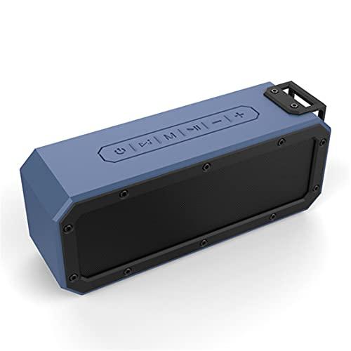 XJST Altavoz Bluetooth, Altavoces Inalámbricos Portátiles, Impermeable IPX67, Volumen Más Fuerte, Sonido Estéreo Claro De Cristal, Bajo Rico, para Al Aire Libre, Camping,Azul
