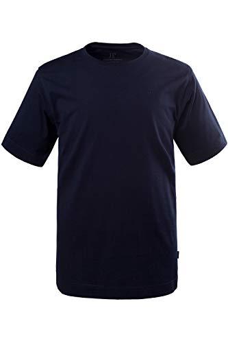 JP 1880 Herren große Größen bis 8XL, T-Shirt, JP1880-Motiv auf der Brust, Basic-Shirt, Rundhalsausschnitt, Reine Baumwolle, Dunkelmarine XL 702558 70-XL