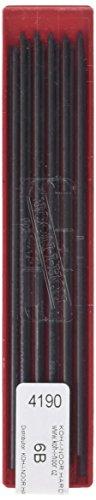 KOH-I-NOOR - Minas de grafito, 6B, 2 mm