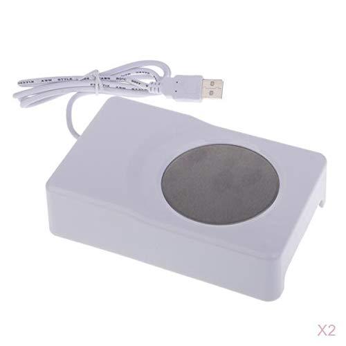 mejores Calentadores de bebidas USB Fenteer 2 pcs Calentadores de Bebida USB Portátiles, con Efecto de Enfriamiento y Calor, 3.5W