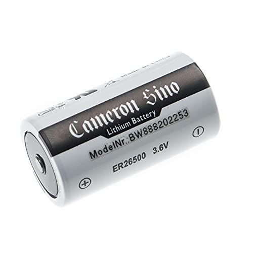 vhbw Batería celda Redonda Litio ER26500 (Size C) - Batería Primaria (8500 mAh, 3,6 V, Li-SOCl2)