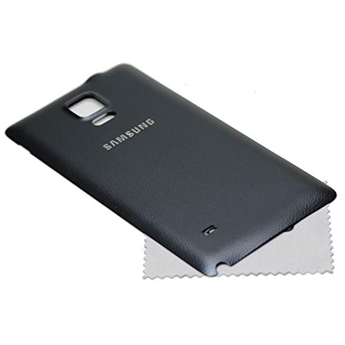 Akkudeckel für Samsung Original für Samsung Galaxy Note 4 N910F schwarz Back Cover Rückwand mit mungoo Displayputztuch