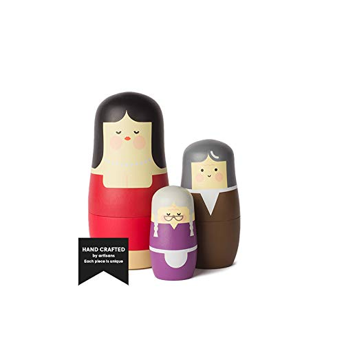Spring Kopenhagen - Expressions Mothers - Matrjoschka poppen - hout - 3-delig