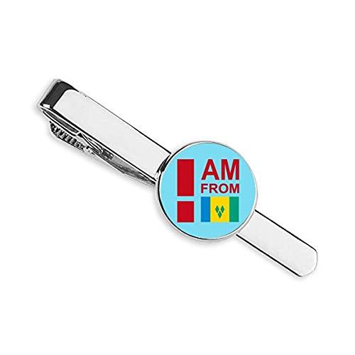 I Am From Vincent Grenadines Corbata Clip Bar Regalo Hombre De Negocios