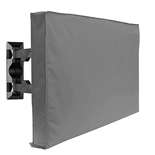 """Outdoor TV Cover - 50"""" Model for 48"""" - 52"""" Flat Screens - Slim Fit - Weatherproof Weather Dust Resistant Television Protector - Gray"""