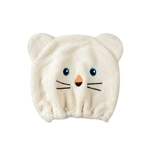 JUNCH Microfibra turbante de pelo secado rápido sombrero envuelto toalla Cap toalla toalla buena higroscopicidad y transpirabilidad (E)
