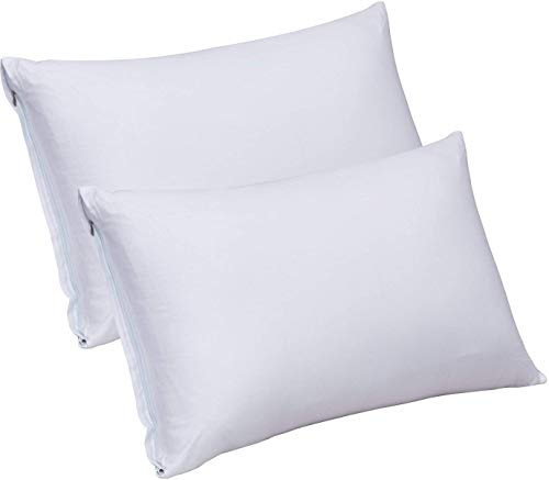 Utopia Bedding King Zippered Bamboo Pillowcases - 20 by 40 inches Pillow Covers (Pack of 2, King, White)