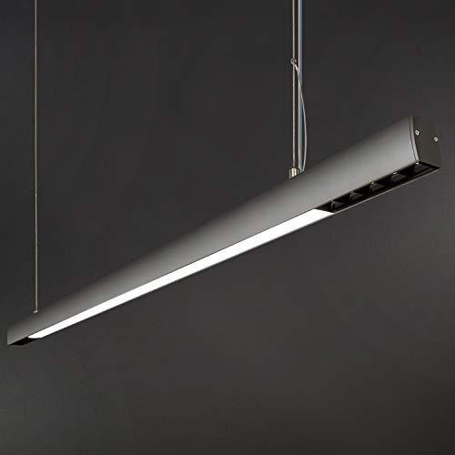 ZMH LED Pendelleuchte Büro 29W 4000K Natural Licht mit OSRAM Chips Büroleuchte Pendellampe esstisch Hängeleuchte aus Aluminum Hängelampe Deckenleuchte für Büro, Arbeitszimmer -120cm