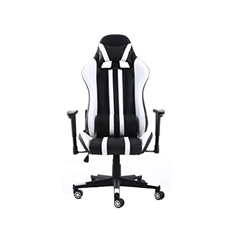 OUY Gaming Stuhl Bürostuhl Computer Stuhl Gaming Stuhl Computer Stuhl Gaming Stuhl Ledersessel Sitz ergonomischer Bürostuhl Gaming Stuhl heiß schwarz rot-blackandwhite