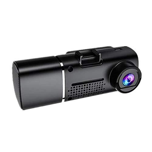 Shiwaki Salpicadero con cámara de Doble cámara Frontal de Doble salpicadero de 1080P para Coches, Pantalla IPS de 1,5'cámara de salpicadero de 170 ° FOV