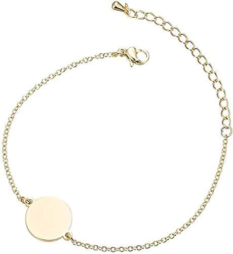NC188 Collar Pulsera Mujer S Pulsera Acero Inoxidable Pulsera Redonda Simple Y Versátil Pulsera Redonda