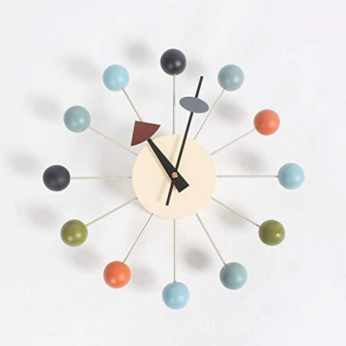 Kreativität Tianzhi Nelson mehrfarbige dekorative Moderne stille Wanduhr ist for Haus, Küche, Wohnzimmer, Büro, etc. Farbe mittelalterlichen Holz Retro-Design Uhren zur Verfügung Stehen.