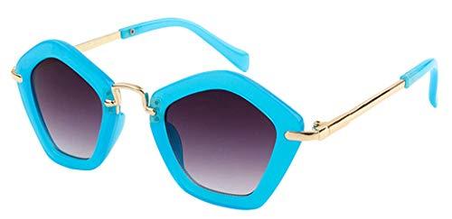 Binse Binse Baby Sonnenbrillen UV-Schutz Brille Kinderbrille Fünfeckiger Stern-Form (Blau)