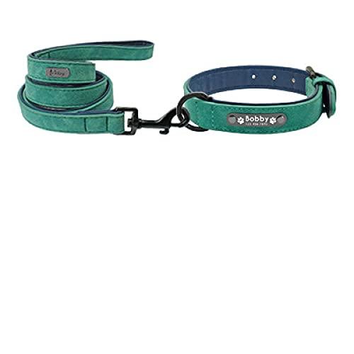 Collar de cuero personalizado para perros pequeños, medianos y grandes, correa para mascotas