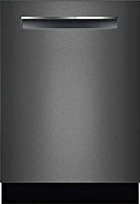"""Bosch SHPM78Z54N 24"""" 800 Series Fully Integrated Pocket Handle Dishwasher with 16 Place Settings, Flexible 3rd Rack, InfoLight and CrystalDry (Black Stainless Steel)"""
