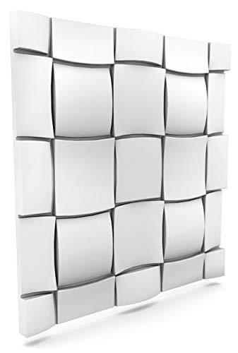 Luxury 3D Wall and Ceiling Panel Rubik 60cm x 60cm Decorative Tile Cladding (28 Panels (10.08 m²))