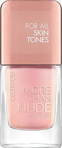 Catrice More Than Nude Nail Polish, Nailpolish, Nagellack, Nr. 12 Glowing Rose, nude, langanhaltend, scheinend, ohne Aceton, vegan, Mikroplastik Partikel frei (10,5ml)