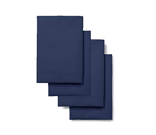 Blancos Rebeca 4 Fundas De Almohada - Tamaño Estándar - Modelo 200 Básica (Azul Francia)