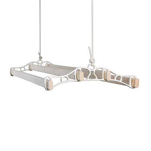 Tendedero interior con 4 barras de madera de 200 cm (crema)
