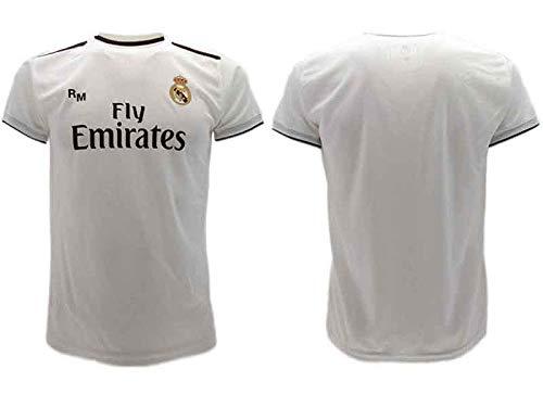 Camiseta Oficial Real Madrid Neutra Blanca Home 2018 2019 en blíster Regalo sin Nombre sin número