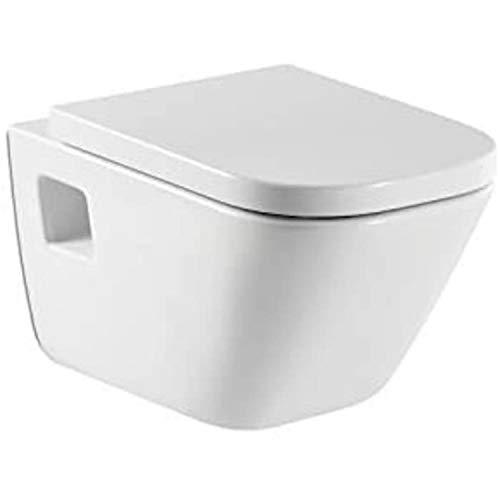 Roca A346477000 – WC suspendu en porcelaine, Collection The Gap, couleur : blanc, siège et couvercle non inclus)