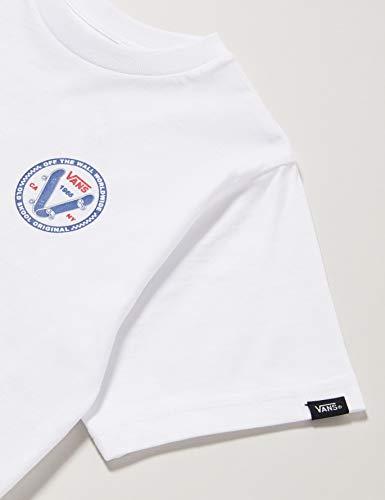 Vans Old Skool V Kids T-Shirt, Bianco (White Wht), 4-5 Anni (Taglia Unica: 4) Bimbo