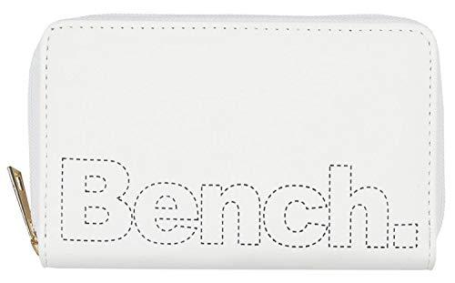 BENCH Billetera con cremallera para mujer, color blanco y negro