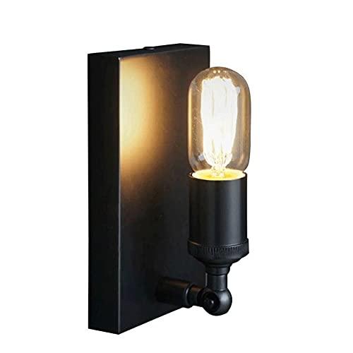 Edison Interior Retro Retro Lámpara de pared Negro Vintage Industrial Wall Spotlight, E27 Bulbo para Cottage Dormitorio Sala de estar Sala de comedor Escalera de la mesa de noche Iluminación de la par