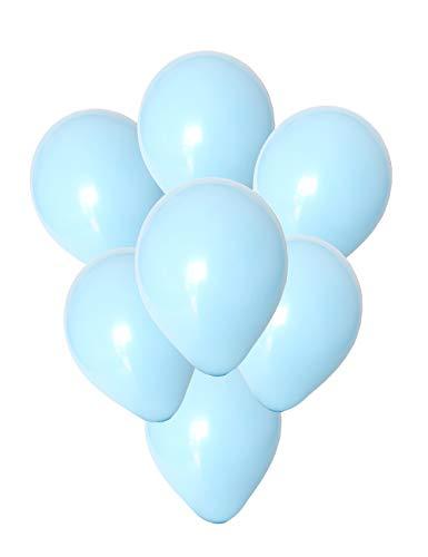 Chailert Balloon: 10Zoll pastellblauer Ballon Latex-Ballon für die Partydekoration, 100 Stücke (Hellblau)