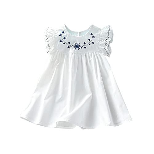 YWLINK Vestido de Tirantes Niñas Verano Niños Ropa de Niña a la Moda Barata 2021 Estampado de Cereza Sin Mangas Vestidos de Princesa Niñas Fiesta Ropa Bebe Niña