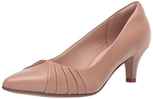 Clarks womens Linvale Crown Pump, Praline Leather, 5.5 US