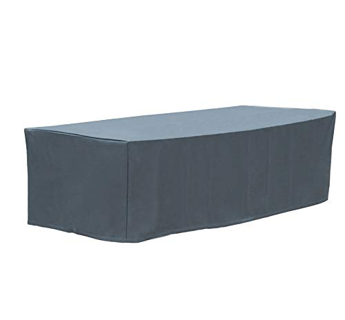 WOLTU GZ1167an Housse de Protection pour mobilier de Jardin 600D Oxford imperméable,240x136x88cm Anthracite