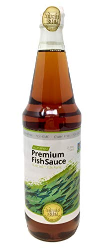 Four Elephants Premium Fish Sauce 25 Ounce Certified Non-GMO and Gluten Free (1 Pack)