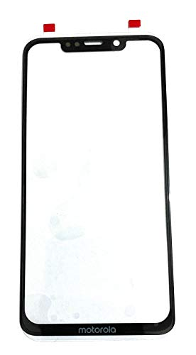 Front Screen Outer Upper Touch Glass Lens Panel for Motorola Moto one Power Black (Note:- This is not a Screen Guard)