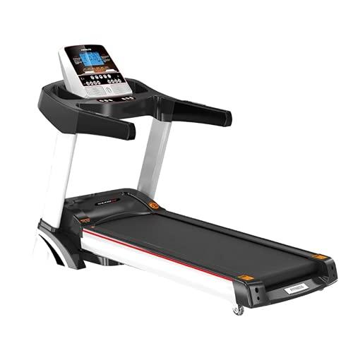 Cinta de correr, máquina de ejercicios para correr para correr de interior portátil, con altavoz de música y monitor LCD motorizado, para el entrenamiento de la oficina del gimnasio en el hogar