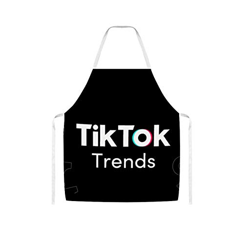 Nuberyl Tok Tik (1) Delantal de lana impermeable diseo cmodo adulto para mujeres hombres chef esposa cocina cocina