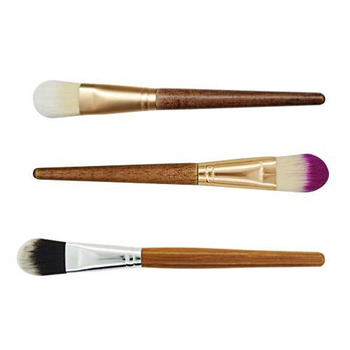 Minkissy 6Pcs Poignée en Bambou Pinceaux de Maquillage Kit de Pinceaux de Maquillage Des Yeux Pinceaux de Maquillage de Fard à Paupières (Couleur Assortie)