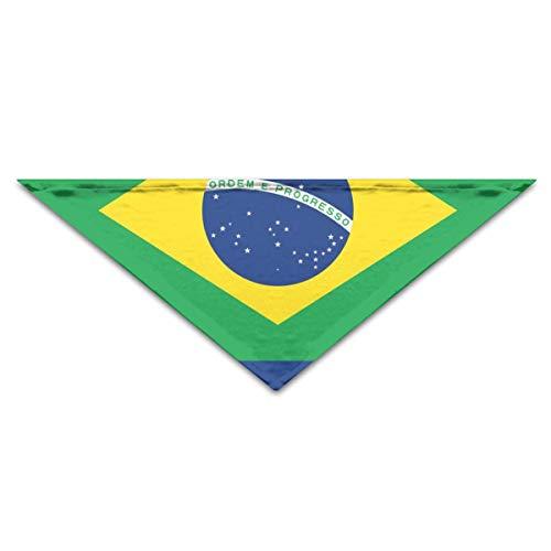 Kleidung Socken Haustier Sabber-Lätzchen brasilianische Flagge Hund Bandana Dreieck Schal für Haustier Katzen und Welpen