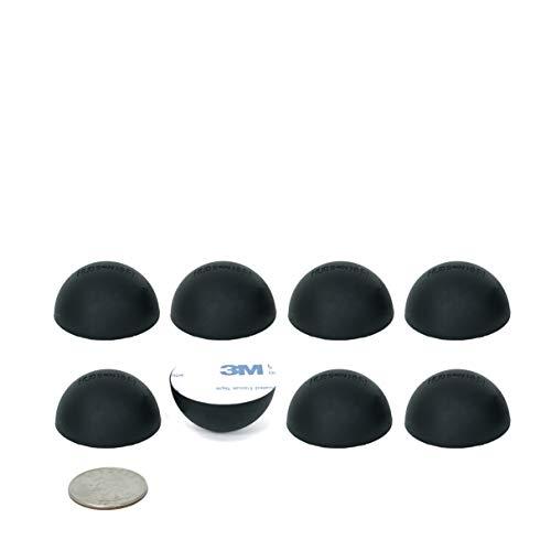 "1.25"" Platinum Silicone Hemisphere Bumper, Non_Skid Isolation Feet with Adhesive –20 Duro –8 Pack"