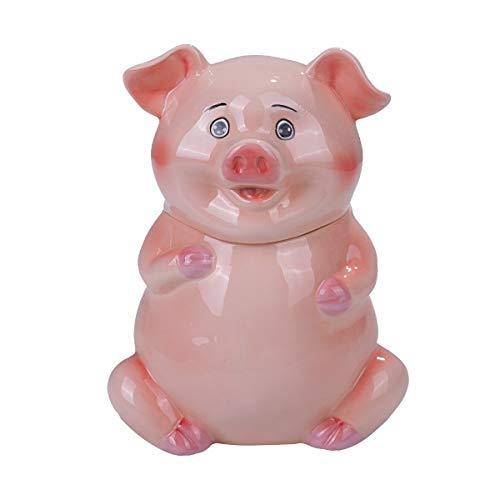 Pacific Giftware PT Cute Farm Pink Piggy Ceramic Cookies Storage Jar