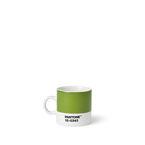 Copenhagen design Pantone Espresso, Small Coffee Cup, fine China (Ceramic), 120 ml, Green, Greenery 15-0343, Color of The Year 2017, 6.2 cm