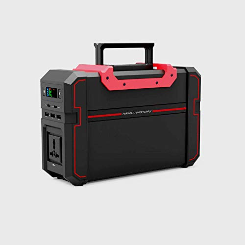 444 WH Generador Solar Portátil, Batería de Litio de Respaldo de Onda sinusoidal Pura de 450 W, Salidas de CA duales de 220 V, 2 Puertos USB Tipo C, 3 Puertos USB-A, 3 Puertos de CC
