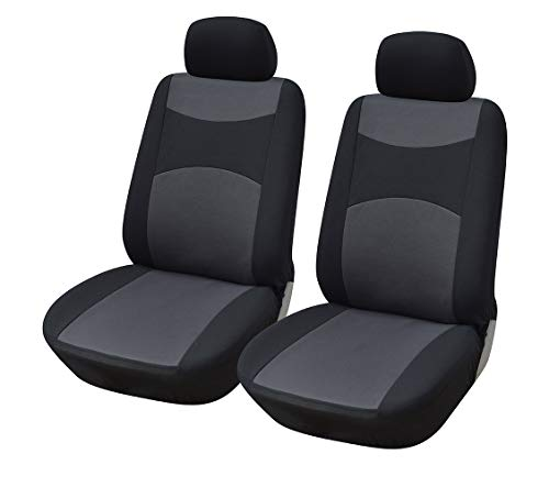 Protech Auto 116001 Black-Fabric 2 Front Car Seat Covers Compatible with Tacoma 2021-2010