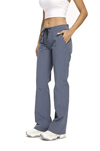 Women's Golf Pants Stretch Lightweight Breathable Quick Dry Anytime Outdoor Boot Cut Casual Pant,2064,Blue,US 8