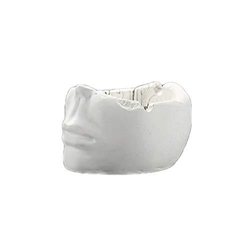 NNR Cenicero Figura de Cemento Cenicero de Escritorio Fumar Bandeja de Ceniza para la Oficina de café en casa Decoración de la Mesa de la Mesa Cenicero Interior (Color : White)