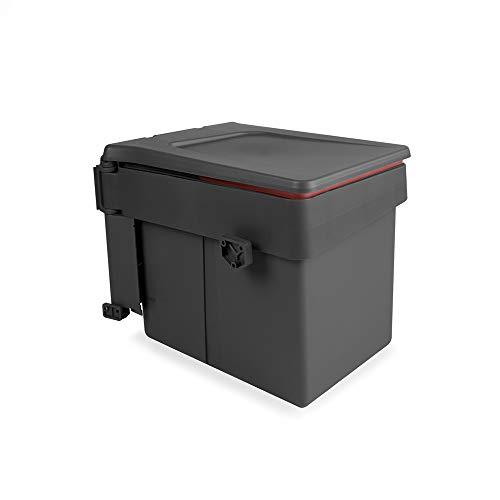 Emuca Poubelle de Recyclage Recycle pour Fixation sur Porte et conteneur de 15L