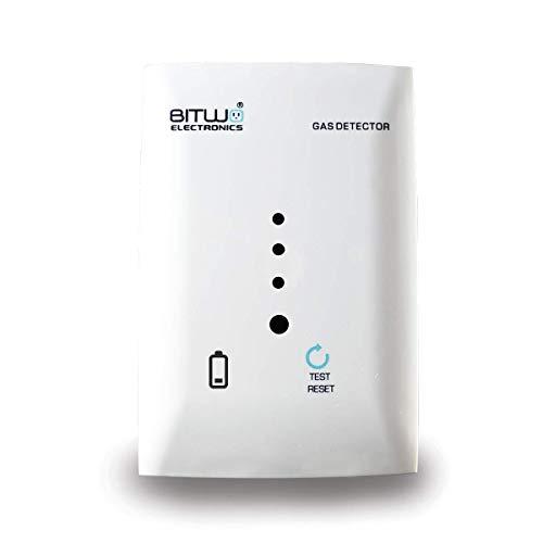Detector De Gas LP Y Natural Fugas Alarma con Baterías De Respaldo Alarma Casa | Bitwo Modelo B1+