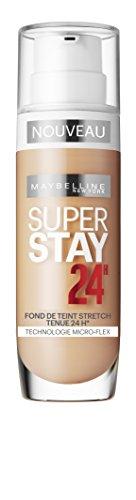 Maybelline Superstay 24H Foundation 48 Sun Beige Frasco dispensador Líquido - base de maquillaje (Sun Beige, Piel mixta, Piel seca, Piel normal, Piel grasosa, Piel sensible, Frasco dispensador, Líquido, Natural, 24 h)