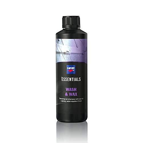 Cartec Essentials Wash & Wax - Shampoo per Auto con Cera Idrofobica e Protettiva - 500ML